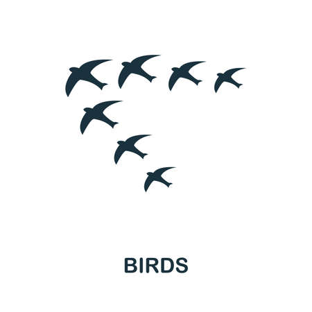 Birds icon vector illustration. Creative sign from birds icons collection. Filled flat Birds icon for computer and mobile. Symbol, logo vector graphics. Ilustracja