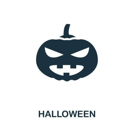 Halloween icon vector illustration. Creative sign from halloween icons collection. Filled flat Halloween icon for computer and mobile. Symbol, logo vector graphics. Ilustracja