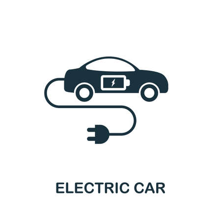 Electric Car icon. Monocrome element from technology collection. Electric Car icon for banners, infographics and templates.