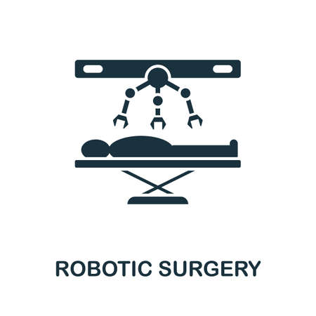Robotic Surgery icon. Simple element from technology collection. Filled monochrome Robotic Surgery icon for templates, infographics and banners