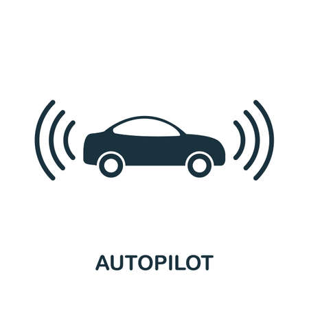 Autopilot icon. Simple element from technology collection. Filled monochrome Autopilot icon for templates, infographics and banners 矢量图像