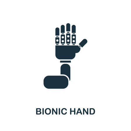 Bionic Hand icon. Simple element from technology collection. Filled monochrome Bionic Hand icon for templates, infographics and banners