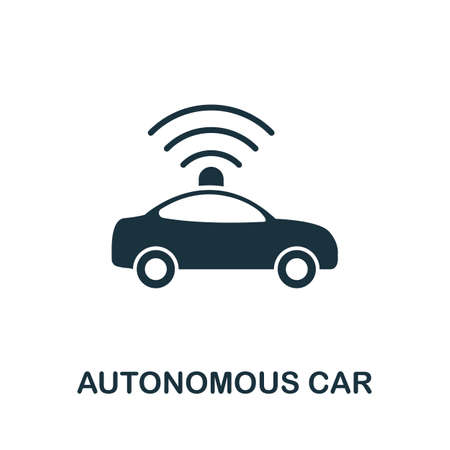 Autonomous Car icon. Simple element from technology collection. Filled monochrome Autonomous Car icon for templates, infographics and banners