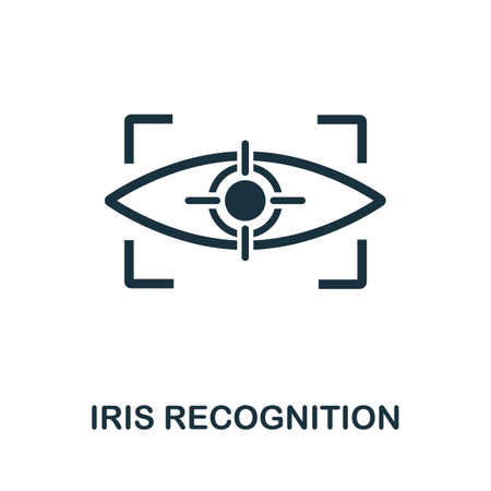 Iris Recognition icon. Simple element from technology collection. Filled monochrome Iris Recognition icon for templates, infographics and banners