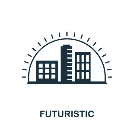 Futuristic icon. Simple element from technology collection. Filled monochrome Futuristic icon for templates, infographics and banners