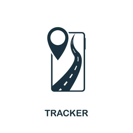Tracker icon. Simple element from technology collection. Filled monochrome Tracker icon for templates, infographics and banners 矢量图像