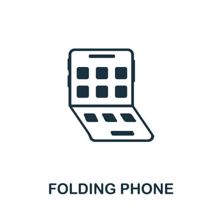 Folding Phone icon. Simple element from technology collection. Filled monochrome Folding Phone icon for templates, infographics and banners