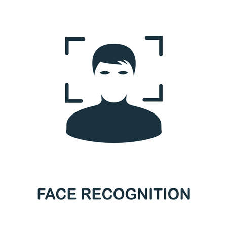 Face Recognition icon. Simple element from technology collection. Filled monochrome Face Recognition icon for templates, infographics and banners 矢量图像