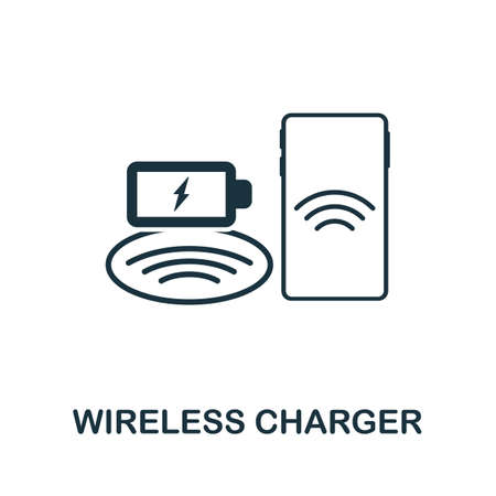 Wireless Charger icon. Simple element from technology collection. Filled monochrome Wireless Charger icon for templates, infographics and banners
