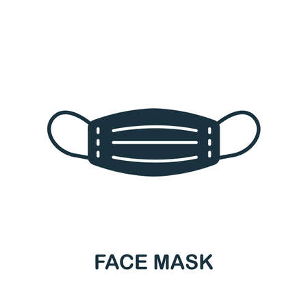 Face Mask icon. Simple element from medical services collection. Filled monochrome Face Mask icon for templates, infographics and banners 矢量图像