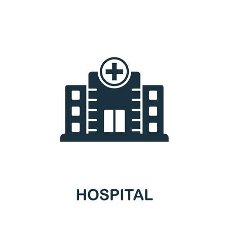 Hospital icon. Simple element from medical services collection. Filled monochrome Hospital icon for templates, infographics and banners