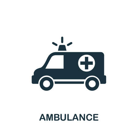 Ambulance icon. Simple element from medical services collection. Filled monochrome Ambulance icon for templates, infographics and banners 矢量图像