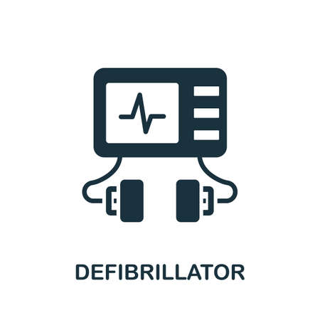Defibrillator icon. Simple element from medical services collection. Filled monochrome Defibrillator icon for templates, infographics and banners