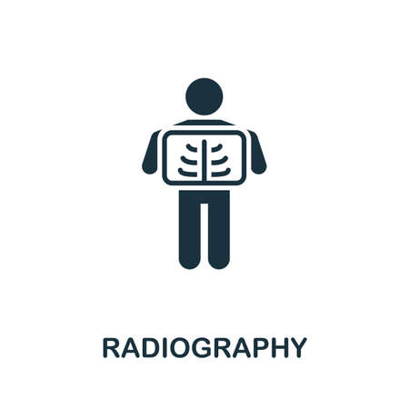 Radiography icon. Simple element from medical services collection. Filled monochrome Radiography icon for templates, infographics and banners