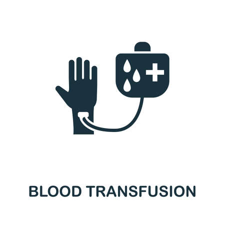 Blood Transfusion icon. Simple element from medical services collection. Filled monochrome Blood Transfusion icon for templates, infographics and banners 矢量图像