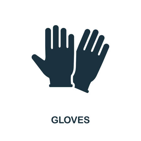 Gloves icon. Simple element from medical services collection. Filled monochrome Gloves icon for templates, infographics and banners 矢量图像