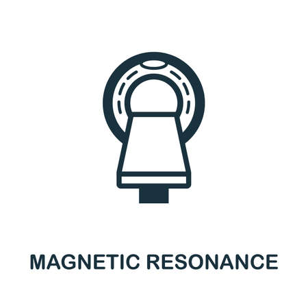 Magnetic Resonance icon. Simple element from medical services collection. Filled monochrome Magnetic Resonance icon for templates, infographics and banners