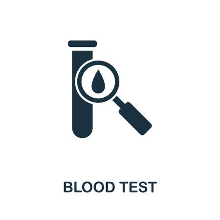 Blood Test icon. Simple element from medical services collection. Filled monochrome Blood Test icon for templates, infographics and banners 矢量图像
