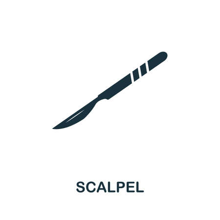 Scalpel icon. Simple element from medical services collection. Filled monochrome Scalpel icon for templates, infographics and banners 矢量图像