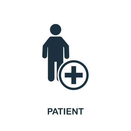 Patient icon. Simple element from medical services collection. Filled monochrome Patient icon for templates, infographics and banners 矢量图像