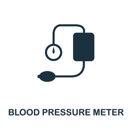 Blood Pressure Meter icon. Simple element from medical services collection. Filled monochrome Blood Pressure Meter icon for templates, infographics and banners