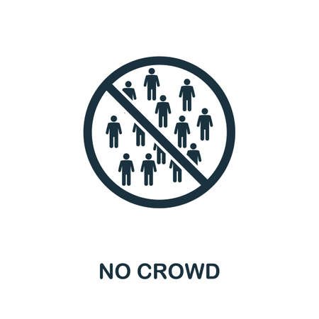 No Crowd icon. Simple element from new normality collection. Filled monochrome No Crowd icon for templates, infographics and banners