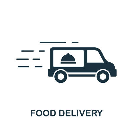 Food Delivery icon. Simple element from new normality collection. Filled monochrome Food Delivery icon for templates, infographics and banners