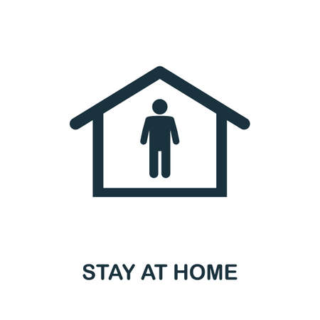 Stay At Home icon. Simple element from new normality collection. Filled monochrome Stay At Home icon for templates, infographics and banners