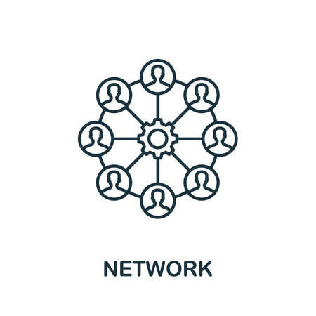 Network vector icon symbol. Creative sign from seo and development icons collection. Filled flat Network icon for computer and mobile 矢量图像