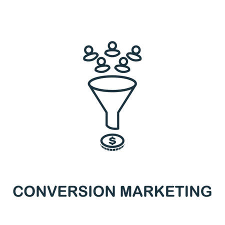 Conversion Marketing vector icon symbol. Creative sign from seo and development icons collection. Filled flat Conversion Marketing icon for computer and mobile