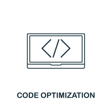 Code Optimization vector icon symbol. Creative sign from seo and development icons collection. Filled flat Code Optimization icon for computer and mobile 矢量图像