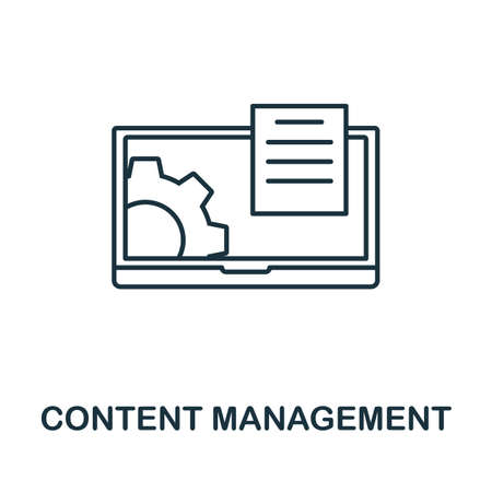Content Management vector icon symbol. Creative sign from seo and development icons collection. Filled flat Content Management icon for computer and mobile