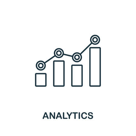 Analytics vector icon symbol. Creative sign from seo and development icons collection. Filled flat Analytics icon for computer and mobile 矢量图像