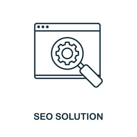 Seo Solution vector icon symbol. Creative sign from seo and development icons collection. Filled flat Seo Solution icon for computer and mobile 矢量图像