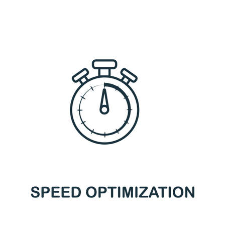 Speed Optimization vector icon symbol. Creative sign from seo and development icons collection. Filled flat Speed Optimization icon for computer and mobile