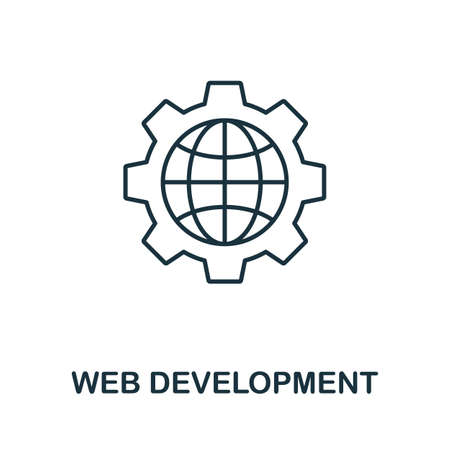 Web Development vector icon symbol. Creative sign from seo and development icons collection. Filled flat Web Development icon for computer and mobile