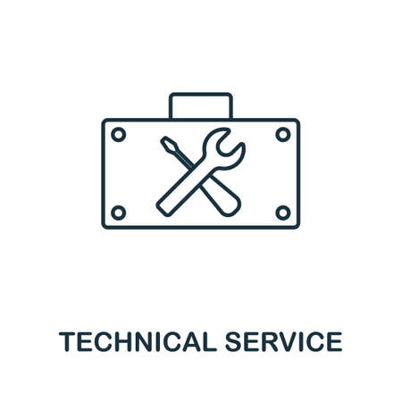 Technical Service vector icon symbol. Creative sign from seo and development icons collection. Filled flat Technical Service icon for computer and mobile 矢量图像