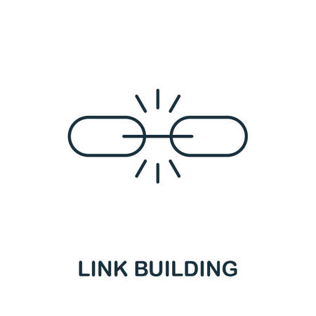 Link Building vector icon symbol. Creative sign from seo and development icons collection. Filled flat Link Building icon for computer and mobile