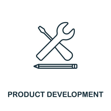 Product Development vector icon symbol. Creative sign from seo and development icons collection. Filled flat Product Development icon for computer and mobile