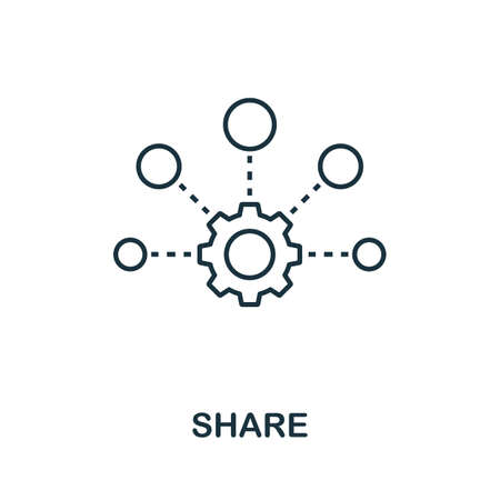 Share vector icon symbol. Creative sign from seo and development icons collection. Filled flat Share icon for computer and mobile