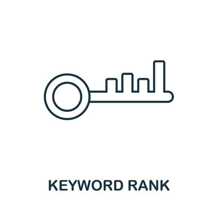 Keyword Rank vector icon symbol. Creative sign from seo and development icons collection. Filled flat Keyword Rank icon for computer and mobile