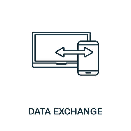 Data Exchange vector icon symbol. Creative sign from seo and development icons collection. Filled flat Data Exchange icon for computer and mobile