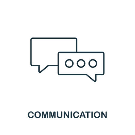 Communication vector icon symbol. Creative sign from seo and development icons collection. Filled flat Communication icon for computer and mobile 矢量图像