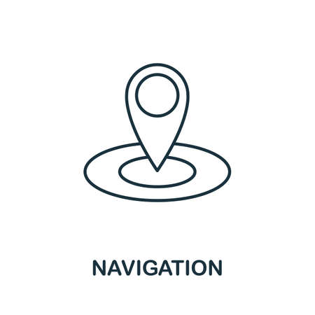 Navigation vector icon symbol. Creative sign from seo and development icons collection. Filled flat Navigation icon for computer and mobile