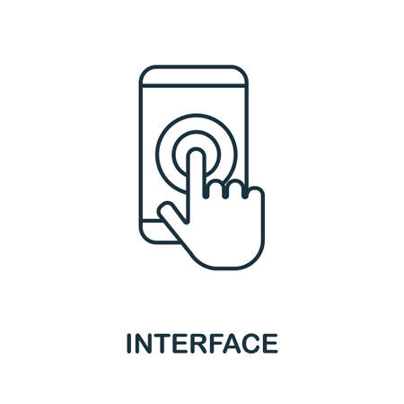 Interface vector icon symbol. Creative sign from seo and development icons collection. Filled flat Interface icon for computer and mobile