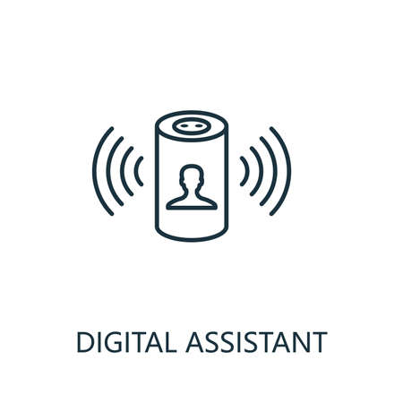 Digital Assistant outline icon. Thin line style from smart home icons collection. Pixel perfect simple element digital assistant icon for web design, apps, software, print usage