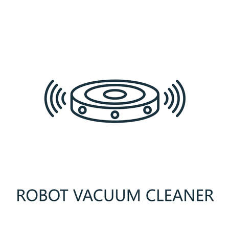 Robot Vacuum Cleaner outline icon. Thin line style from smart home icons collection. Pixel perfect simple element robot vacuum cleaner icon for web design, apps, software, print usage