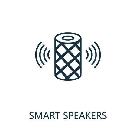 Smart Speakers outline icon. Thin line style from smart home icons collection. Pixel perfect simple element smart speakers icon for web design, apps, software, print usage