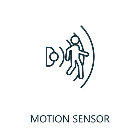 Motion Sensor outline icon. Thin line style from smart home icons collection. Pixel perfect simple element motion sensor icon for web design, apps, software, print usage