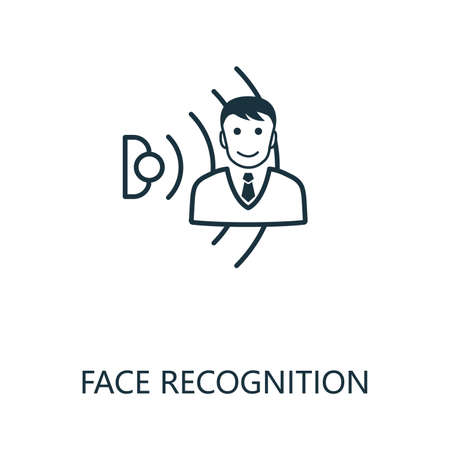 Face Recognition outline icon. Thin line style from smart home icons collection. Pixel perfect simple element face recognition icon for web design, apps, software, print usage